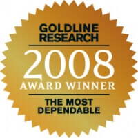 Goldline Research 2008 Award Winner The Most Dependable